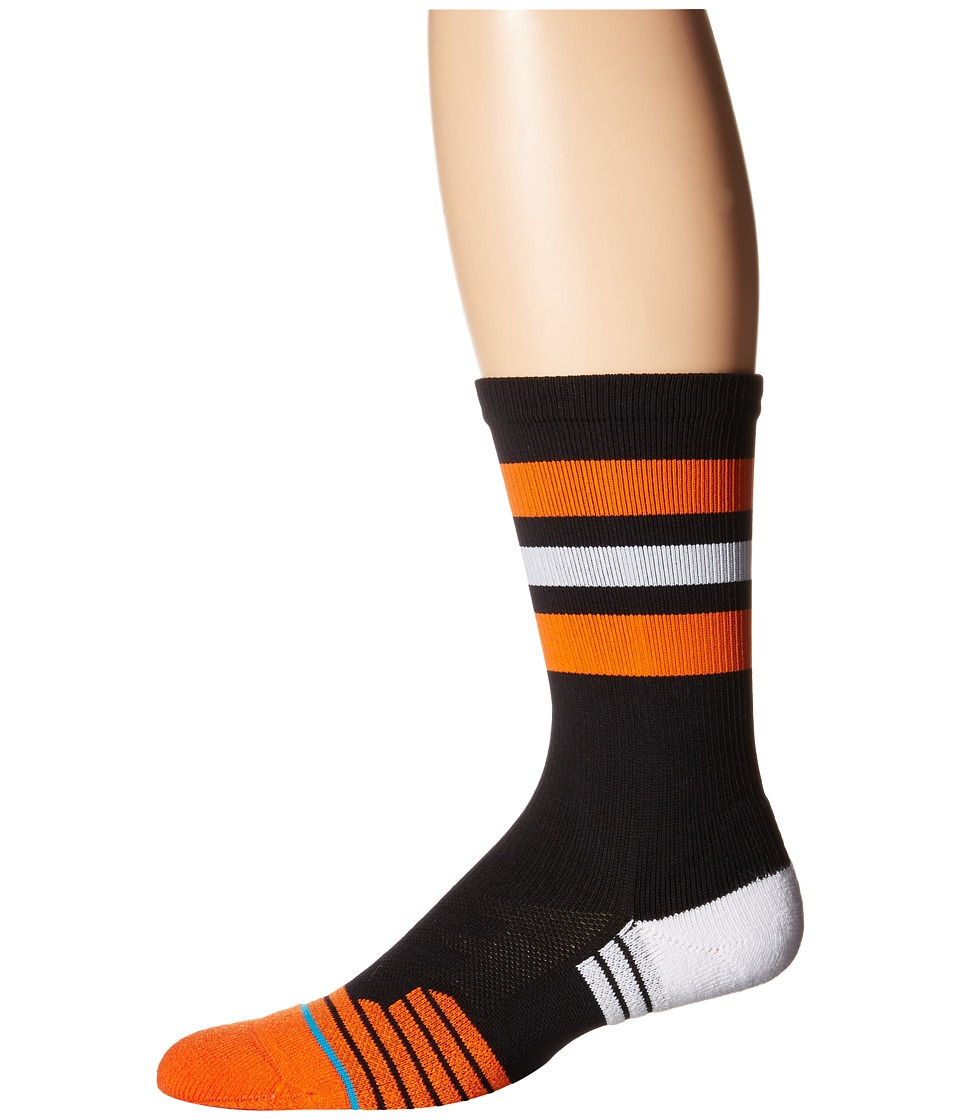 Stance - Gregson (Black) Men's Crew Cut Socks Shoes