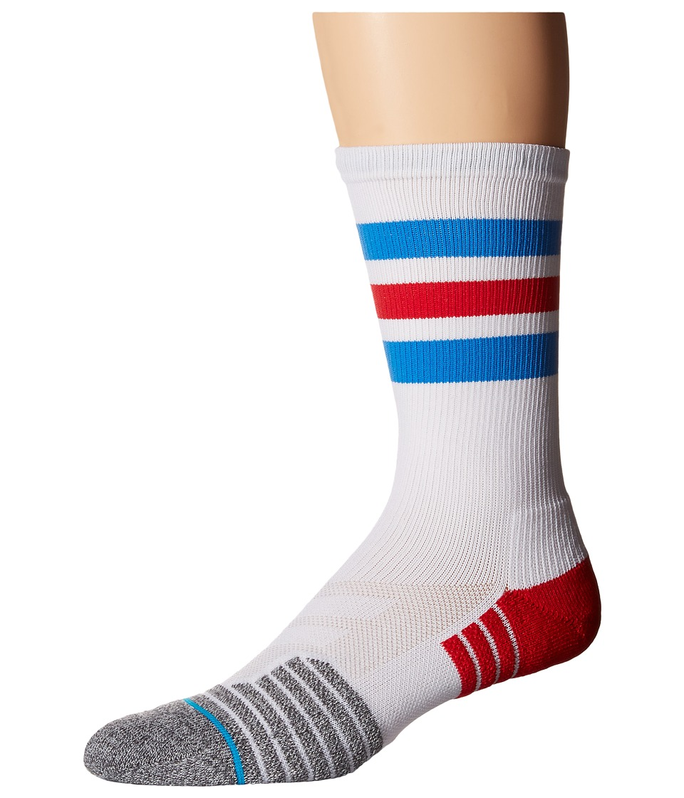 Stance - Gregson (White) Men's Crew Cut Socks Shoes