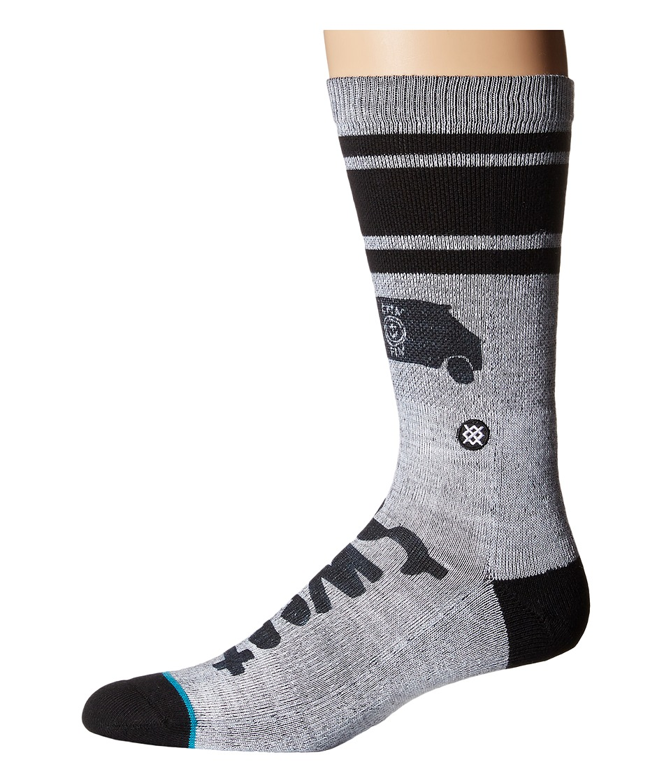 Stance - Dude Sweet (Grey) Men's Crew Cut Socks Shoes