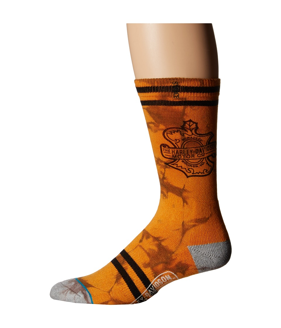 Stance - Oaks (Orange/Grey) Men's Crew Cut Socks Shoes