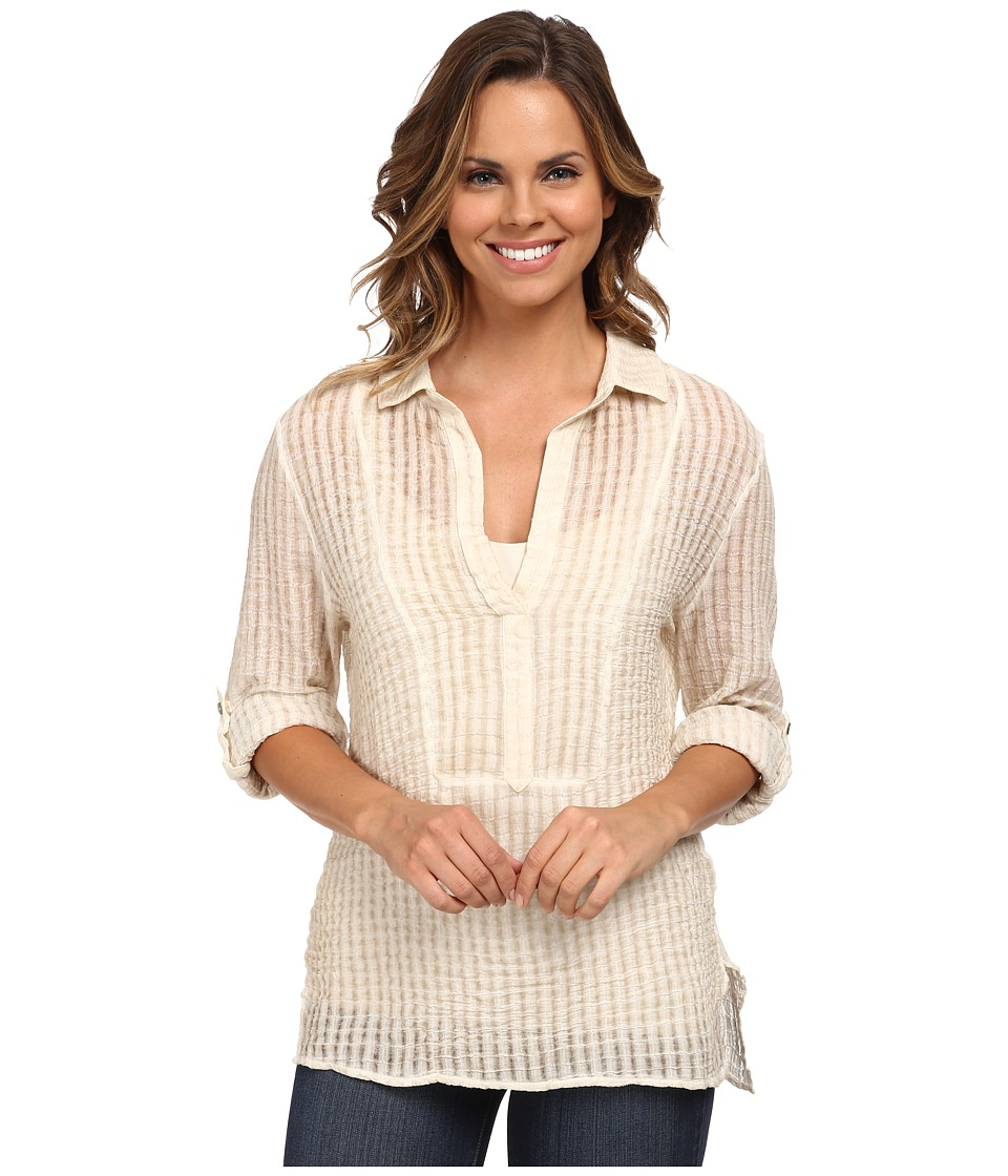 Miraclebody Jeans - Brianna Collar Tunic Top w/ Body-Shaping Inner Shell (Natural White) Women's Blouse
