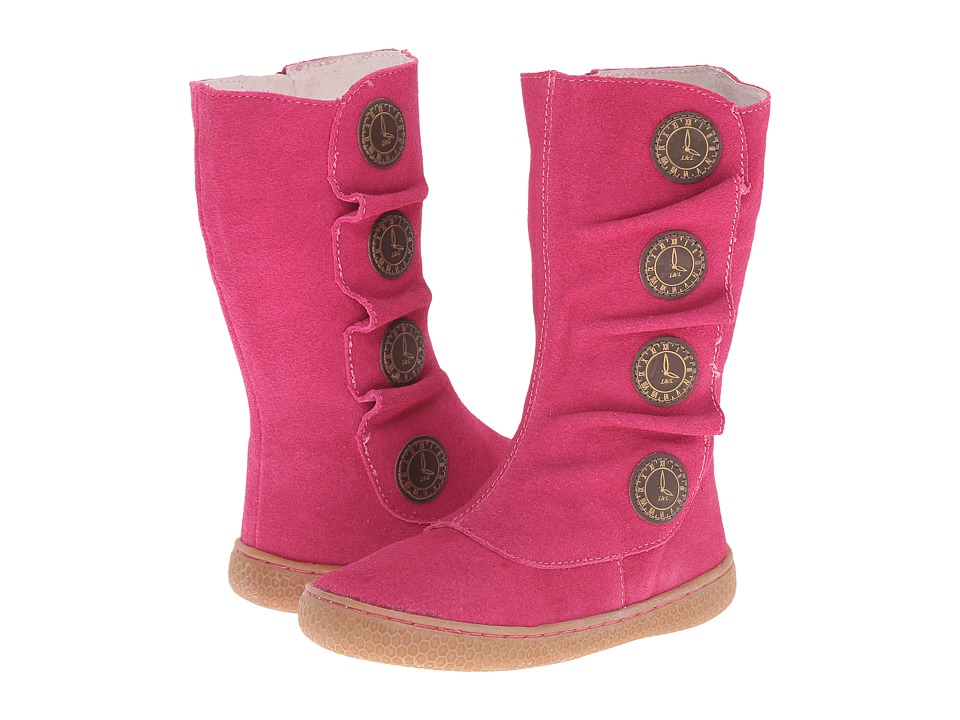 Livie & Luca - Tiempo (Toddler) (Fuchsia Suede) Girls Shoes