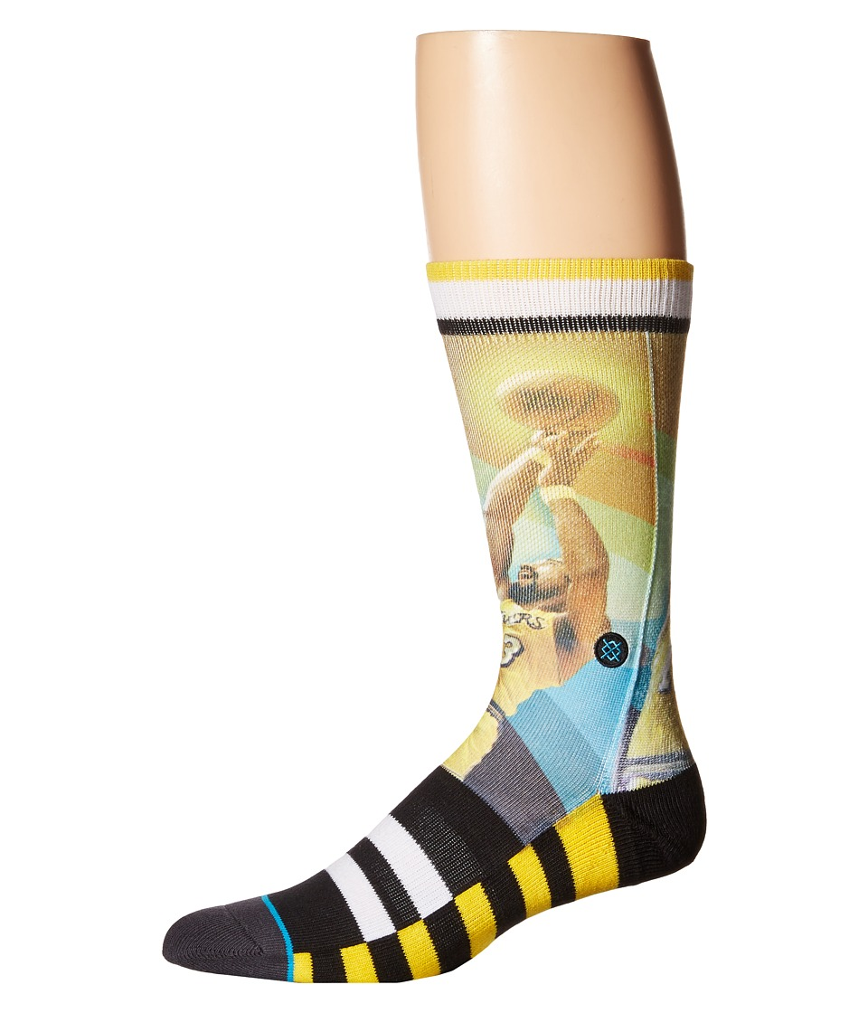 Stance - Wilt - Trading Card (Yellow) Men's Crew Cut Socks Shoes