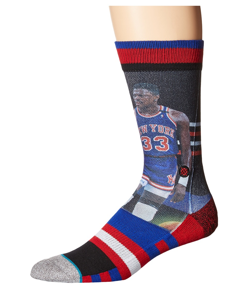 Stance - Patrick Ewing - Trading Card (Royal) Men's Crew Cut Socks Shoes