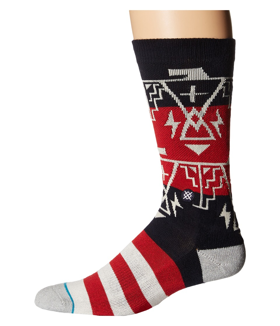 Stance - Thundergod (Red) Men's Crew Cut Socks Shoes