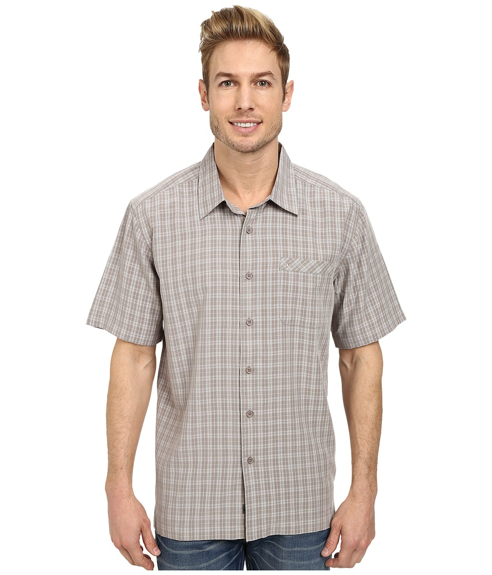 Quiksilver - Crescent Point Woven Top (Walnut) Men's Clothing