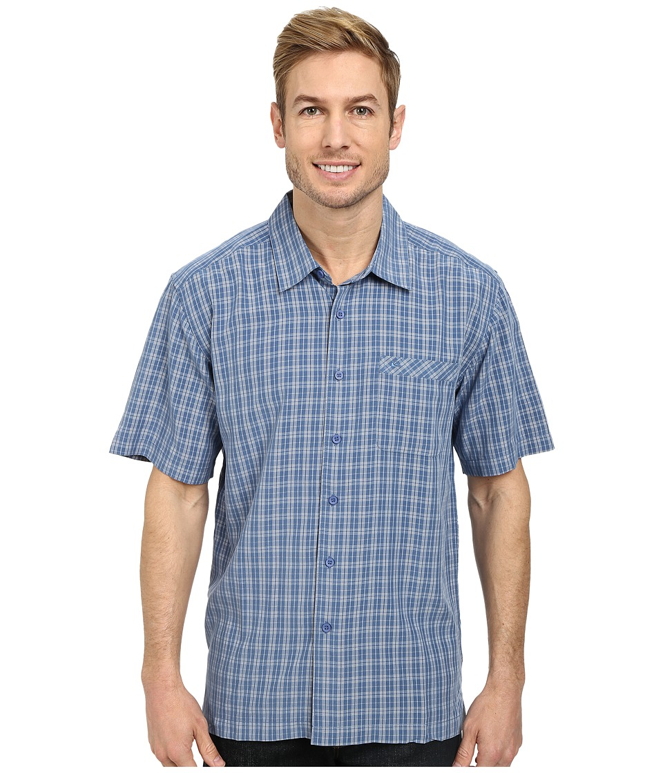Quiksilver - Crescent Point Woven Top (Lake) Men's Clothing