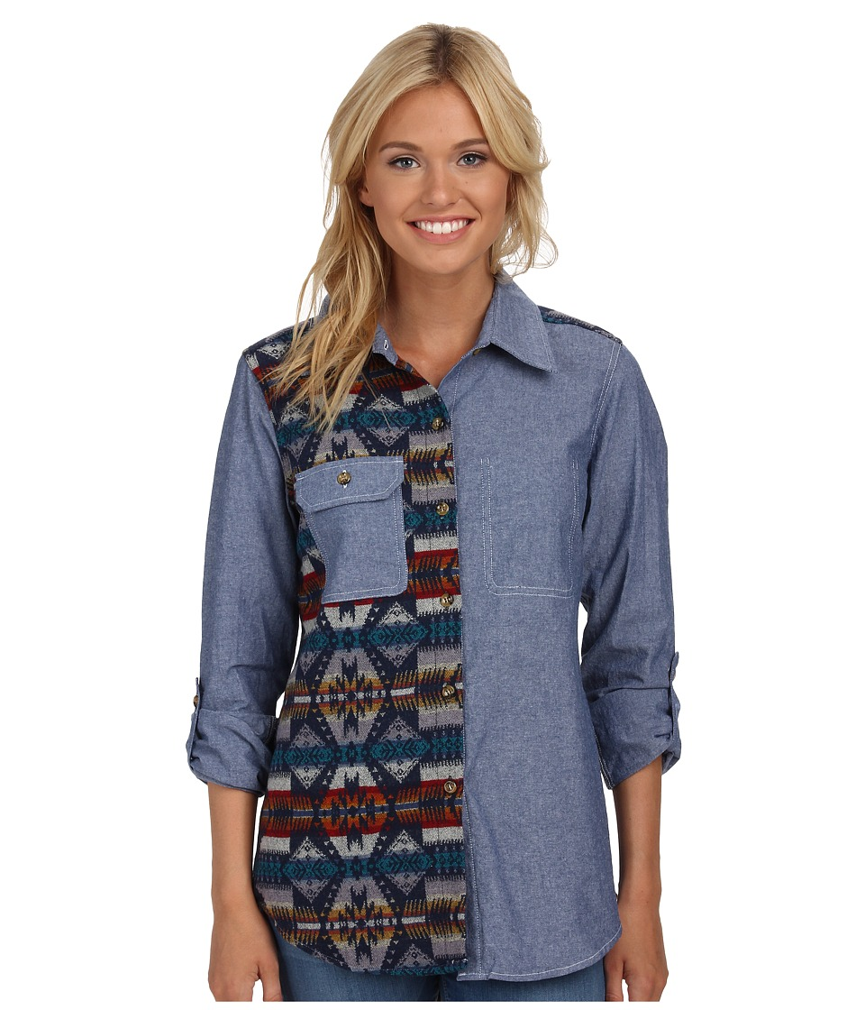 Roxy - Tow Timer Woven Top (Eagle Rock Saddle) Women's Clothing