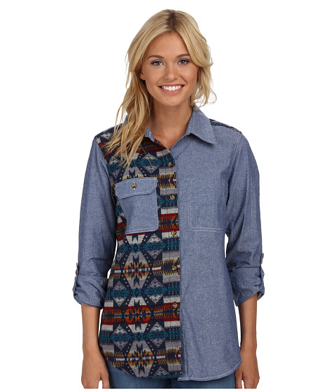Roxy - Tow Timer Woven Top (Eagle Rock Saddle) Women