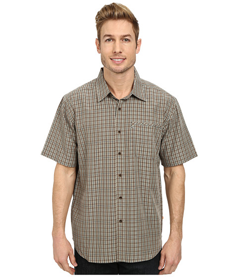 Quiksilver - Twin Lakes Woven Top (Bark) Men's Clothing