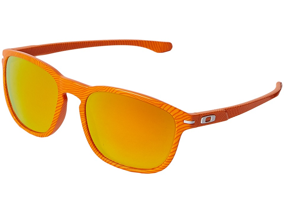 Oakley - Enduro (Atomic Orange Fingerprint/Fire Iridium) Fashion Sunglasses