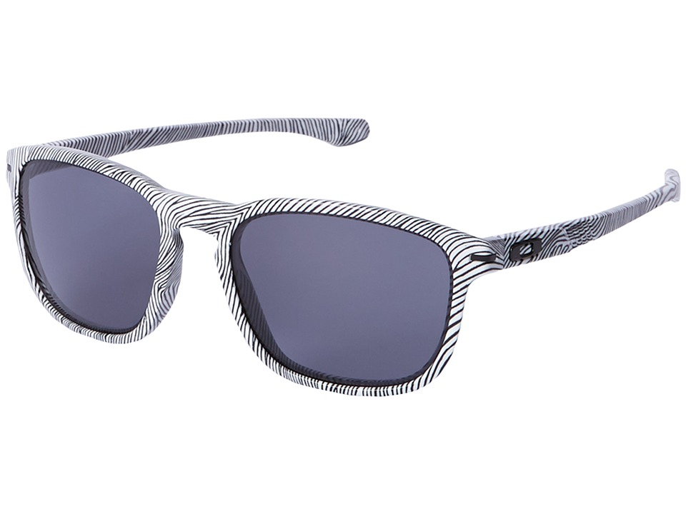 Oakley - Enduro (White Fingerprint/Grey) Fashion Sunglasses