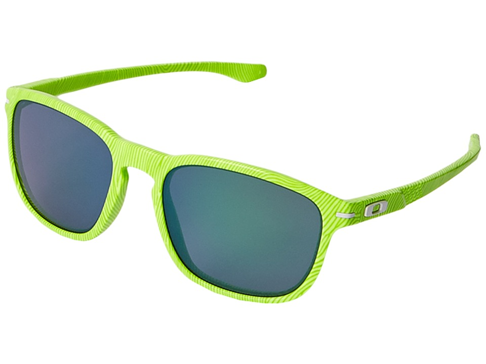 Oakley - Enduro (Retina Burn Fingerprint/Jade Iridium) Fashion Sunglasses