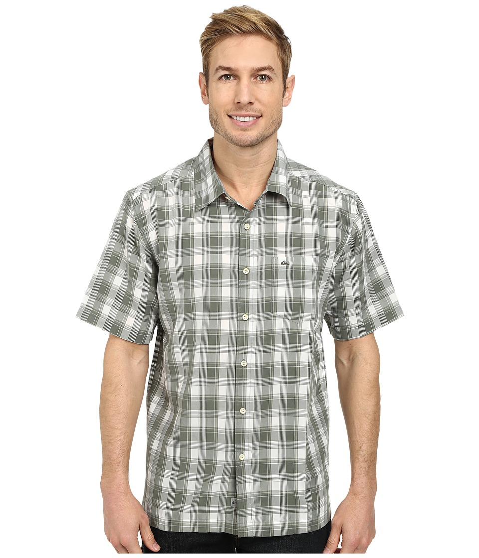 Quiksilver - Makai Point Woven Top (Military Green) Men's Clothing