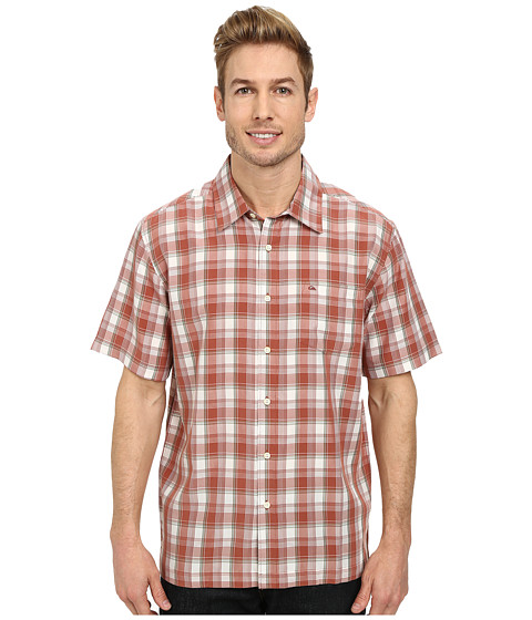 Quiksilver - Makai Point Woven Top (Ahi Red) Men's Clothing