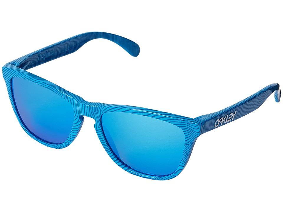 Oakley - Frogskins (Sky Blue Fingerprint/Sapphire Iridium) Sport Sunglasses