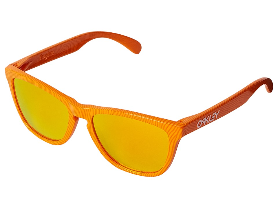 Oakley - Frogskins (Atomic Orange Fingerprint/Fire Iridium) Sport Sunglasses