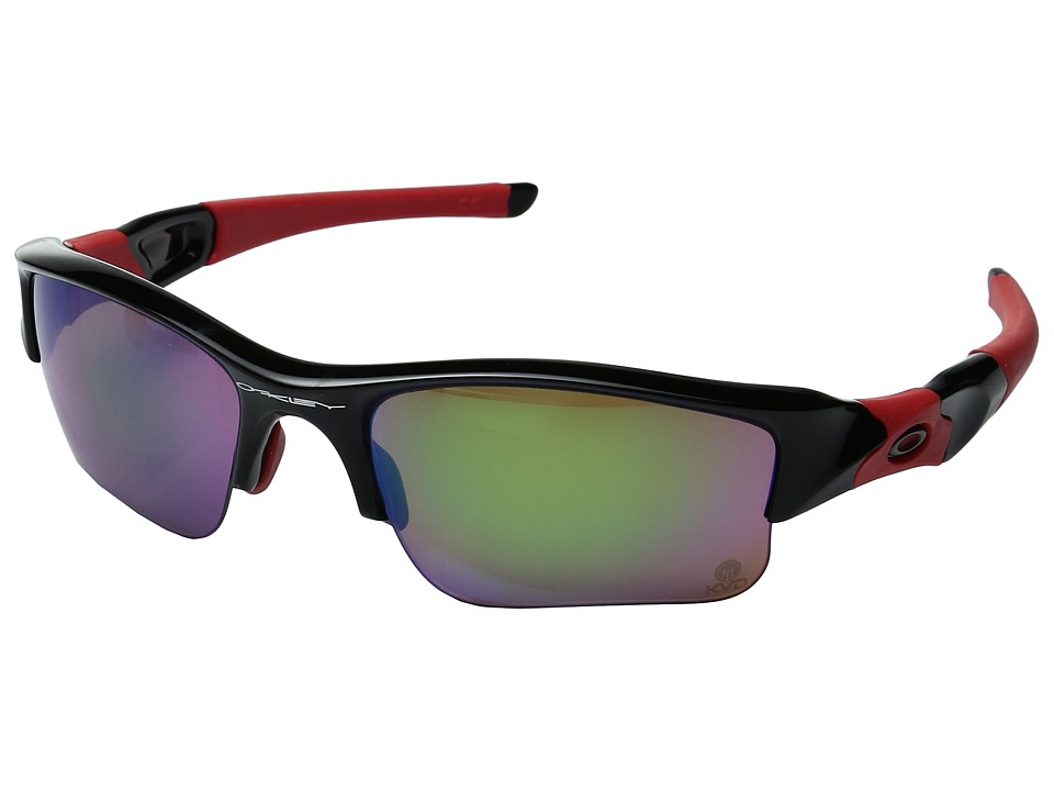 Oakley - Flak Jacket XLJ (Polished Black/Prizm Fresh Water Polarized 1) Sport Sunglasses