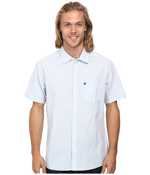 Quiksilver - Everyday Woven Top (Surftripe Angel) Men's Clothing