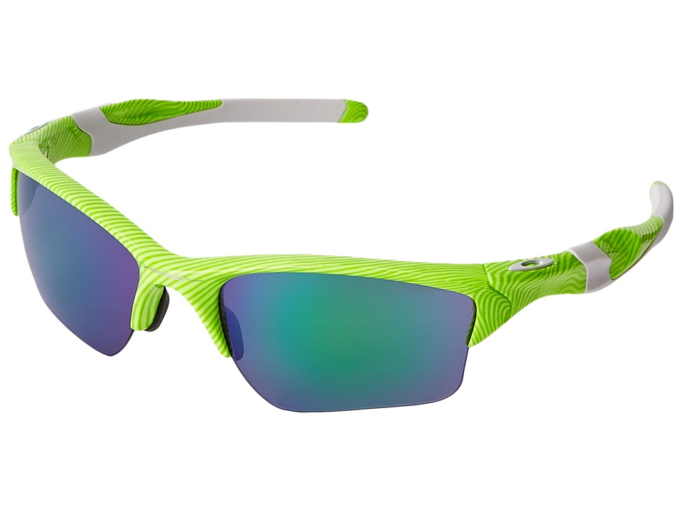 Oakley - Half Jacket 2.0 (Retina Burn Fingerprint/Jade Iridium) Sport Sunglasses