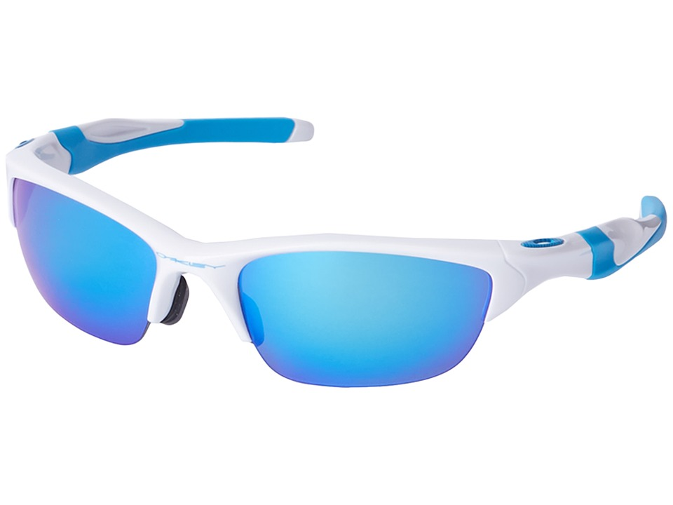Oakley - Half Jacket 2.0 (Polished White/Sapphire Iridium Polarized) Sport Sunglasses