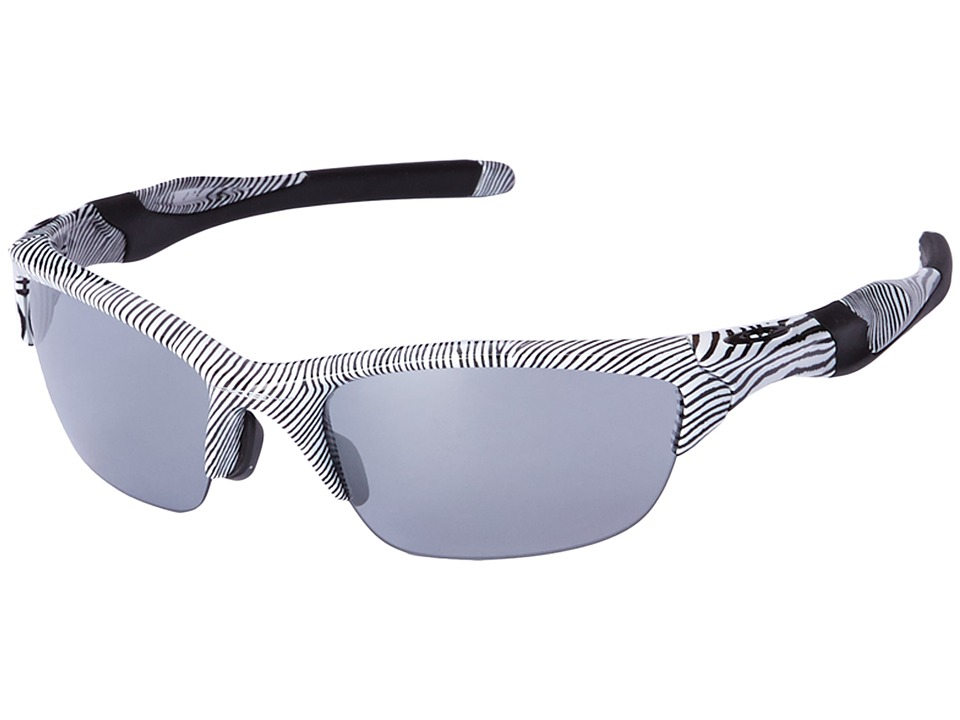 Oakley - Half Jacket 2.0 (White Fingerprint/Slate Iridium) Sport Sunglasses