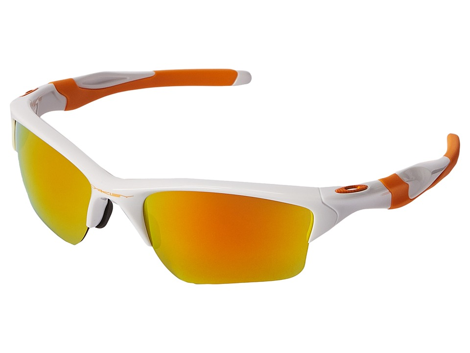 Oakley - Half Jacket 2.0 (Polished White/Fire Iridium) Sport Sunglasses