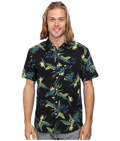 Quiksilver - Everydayprint Woven Top (Surfside Anthracite) Men's Clothing