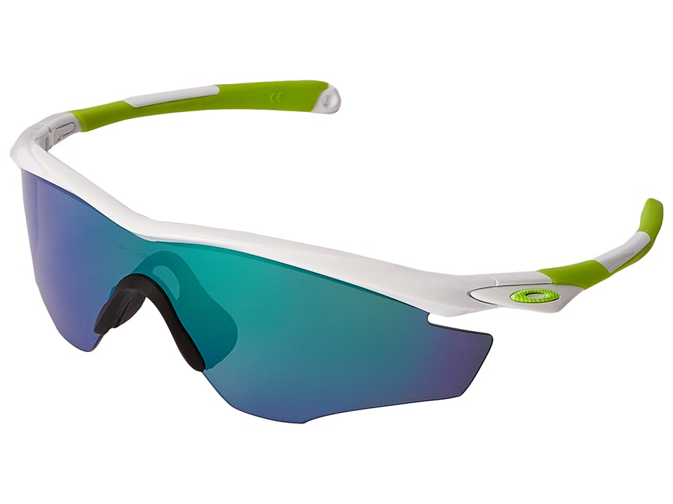 Oakley - M2 (White Fingerprint/Jade Iridium Polarized) Sport Sunglasses