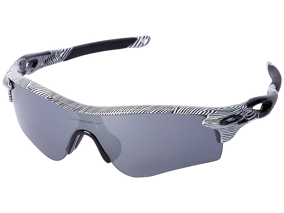 Oakley - Radarlock (White Fingerprint/Black Iridium Polarized) Polarized Sport Sunglasses