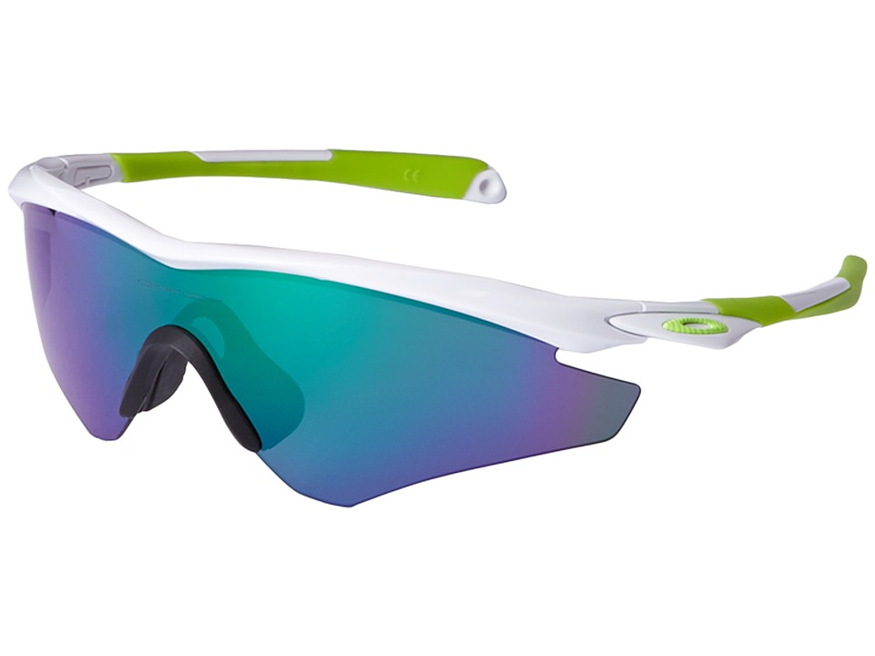 Oakley - M2 (Polished White/Jade Iridium) Sport Sunglasses