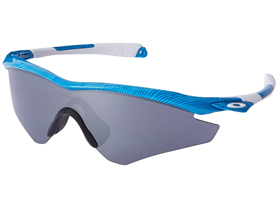 Oakley - M2 (Sky Blue Fingerprint/Sapphire Iridium) Sport Sunglasses