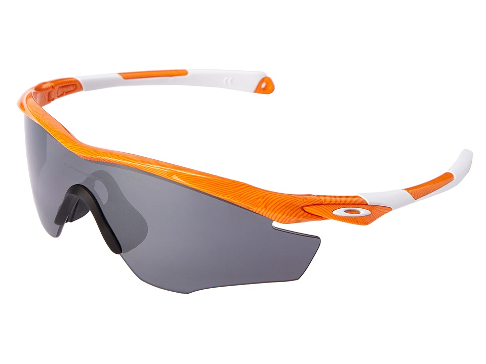 Oakley - M2 (Atomic Orange Fingerprint/Black Iridium Polarized) Sport Sunglasses