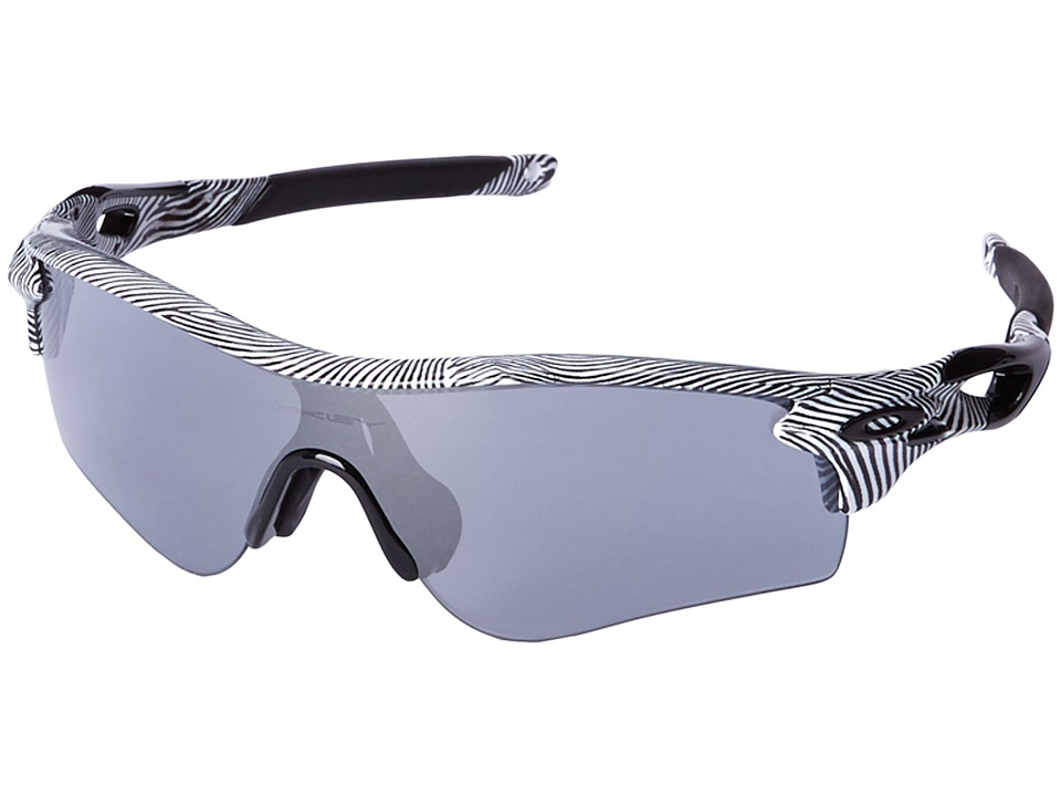 Oakley - Radarlock (White Fingerprint/Slate Iridium) Sport Sunglasses