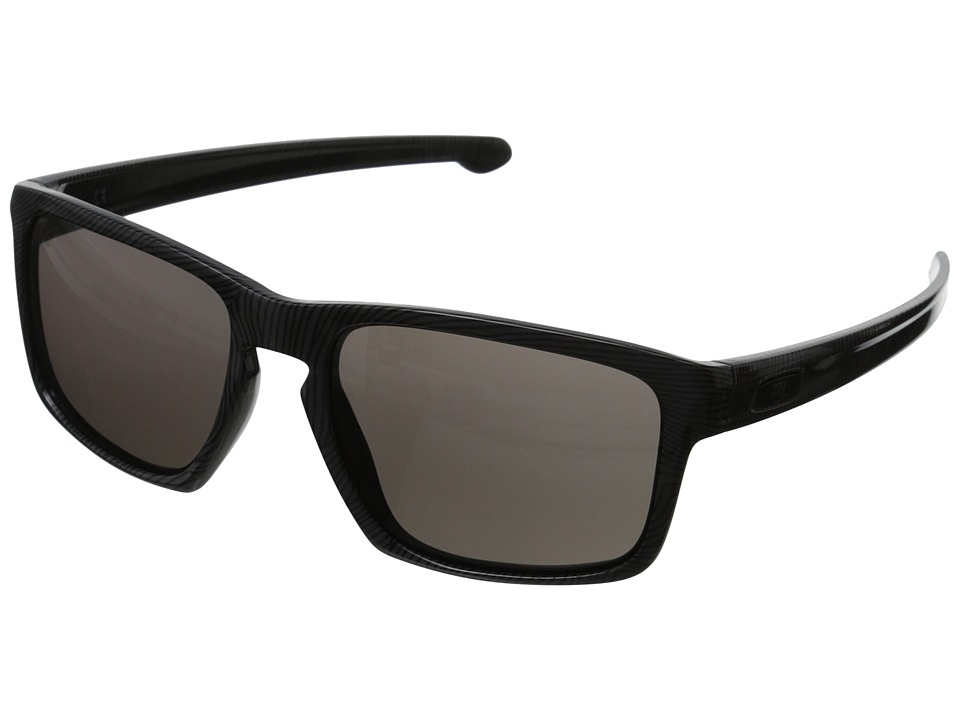 Oakley - Sliver (Dark Grey Fingerprint/Warm Grey) Sport Sunglasses