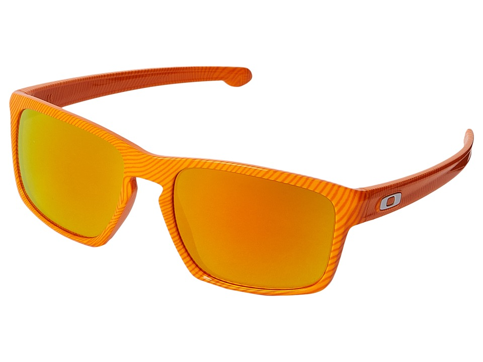 Oakley - Sliver (Atomic Orange Fingerprint/Fire Iridium) Sport Sunglasses