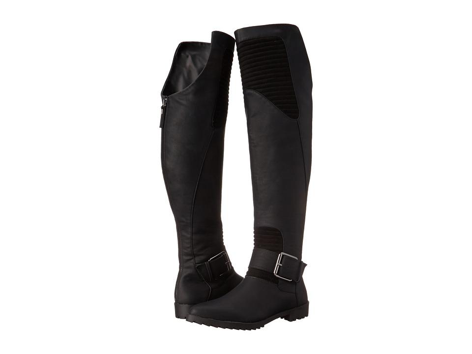 GX By Gwen Stefani Toledo Black Vachetta Matte-Mic Suede Womens Zip Boots