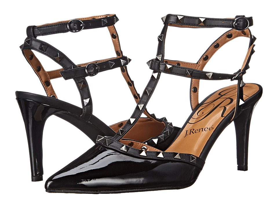 J. Renee - Olyviatoo (Black/Black) Women's Shoes