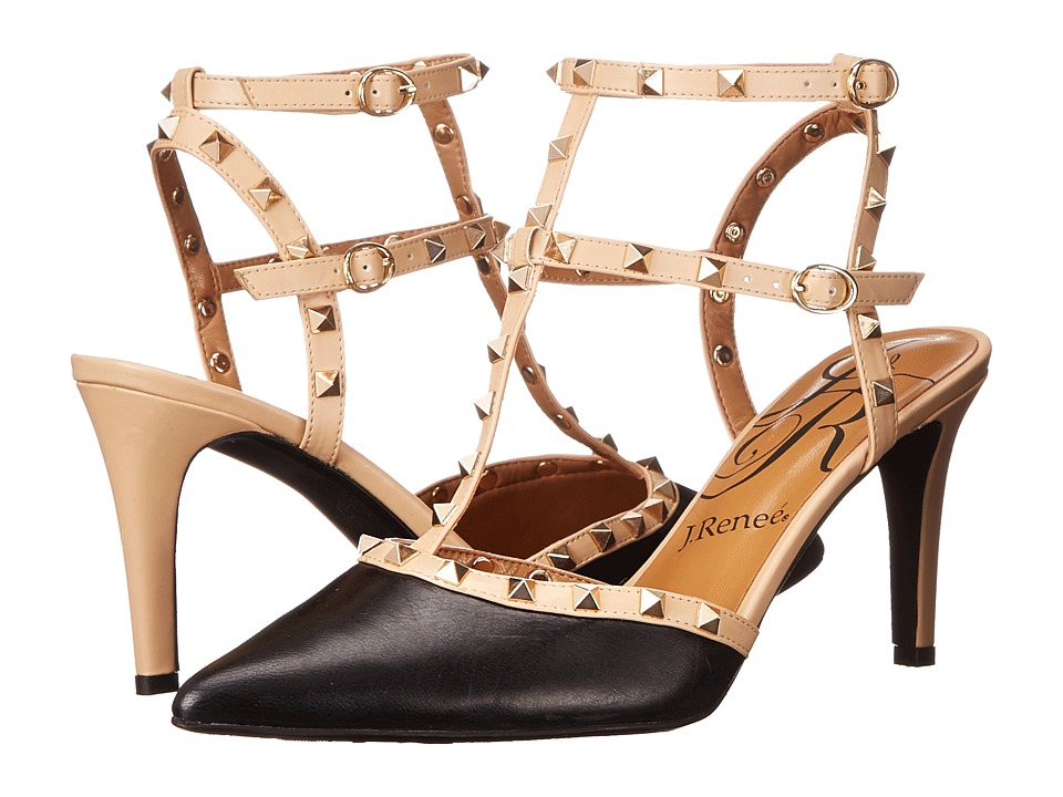 J. Renee - Olyviatoo (Black/Nude) Women's Shoes