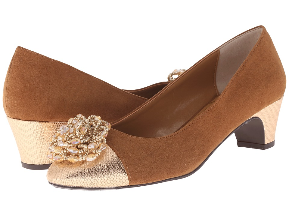 J. Renee - Rashana (Cuoio/Rose Gold) Women's Slip-on Dress Shoes
