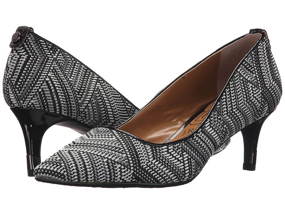 J. Renee - Cady (Black/White) Women's Shoes
