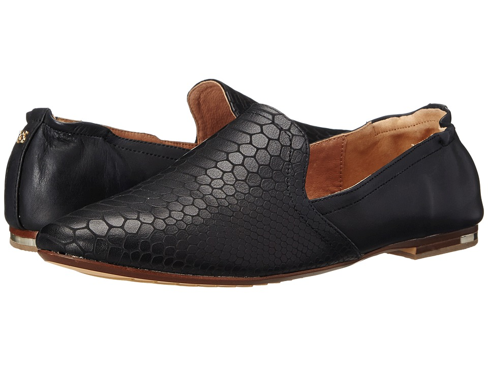Yosi Samra - Preslie 3D Croco Leather Silpper (Black) Women's Slippers