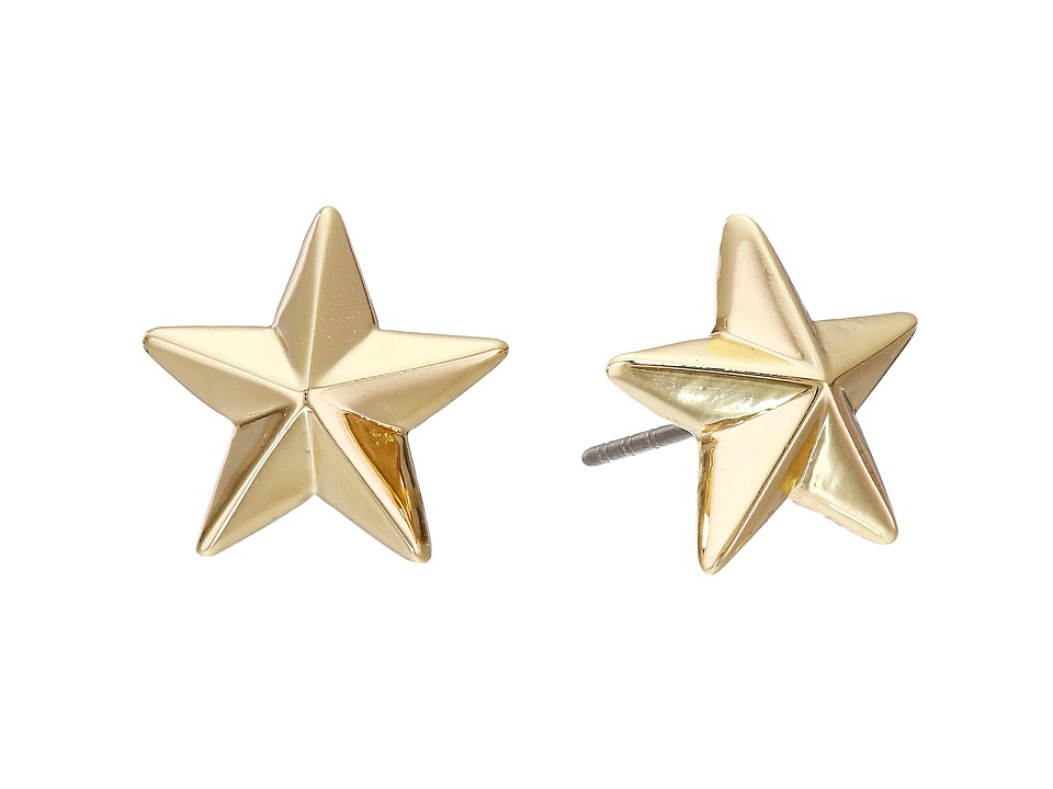 Rebecca Minkoff - Star Stud Earrings (Gold Toned) Earring