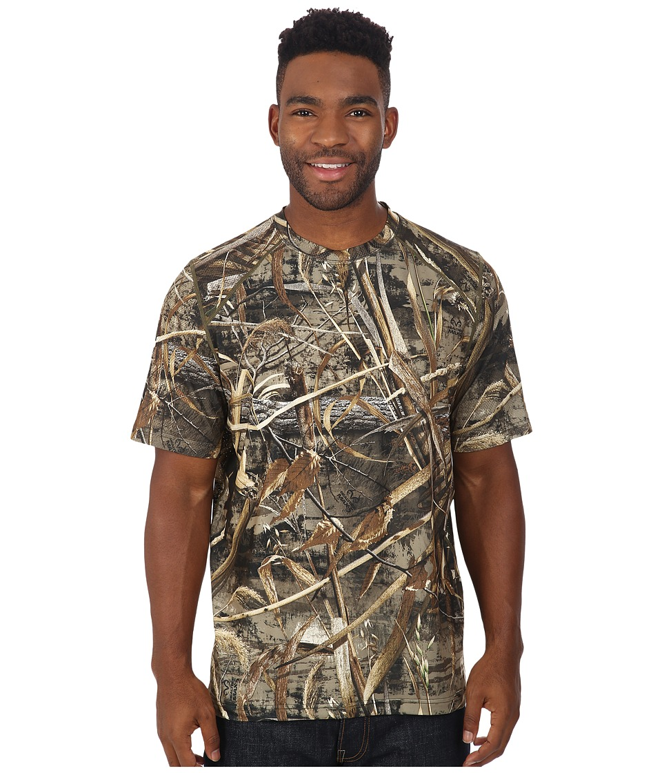 Terramar - 2.0 Stalker Short Sleeve Tee (Realtree Max 5) Men's Short Sleeve Button Up