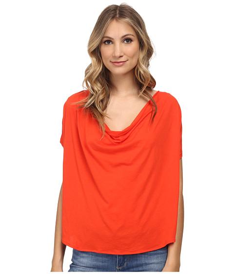 Free People - Fantasy Jersey Cowl Tee (Firecracker Red) Women's T Shirt
