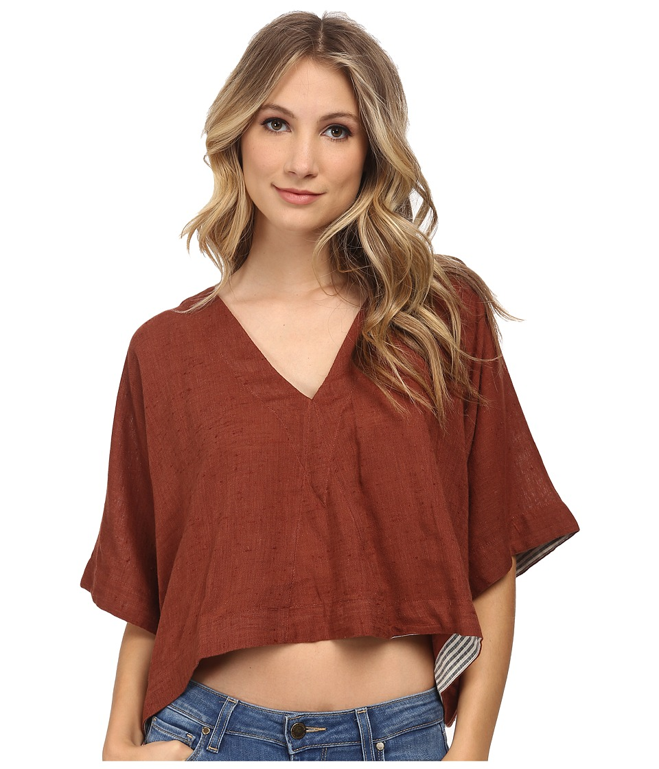 Free People - Cotton Voile Away We Go Pullover (Sienna) Women's Clothing
