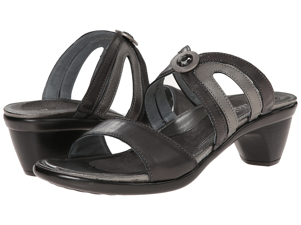 Naot Footwear - Surprise (Black/Metallic Road) Women's Sandals