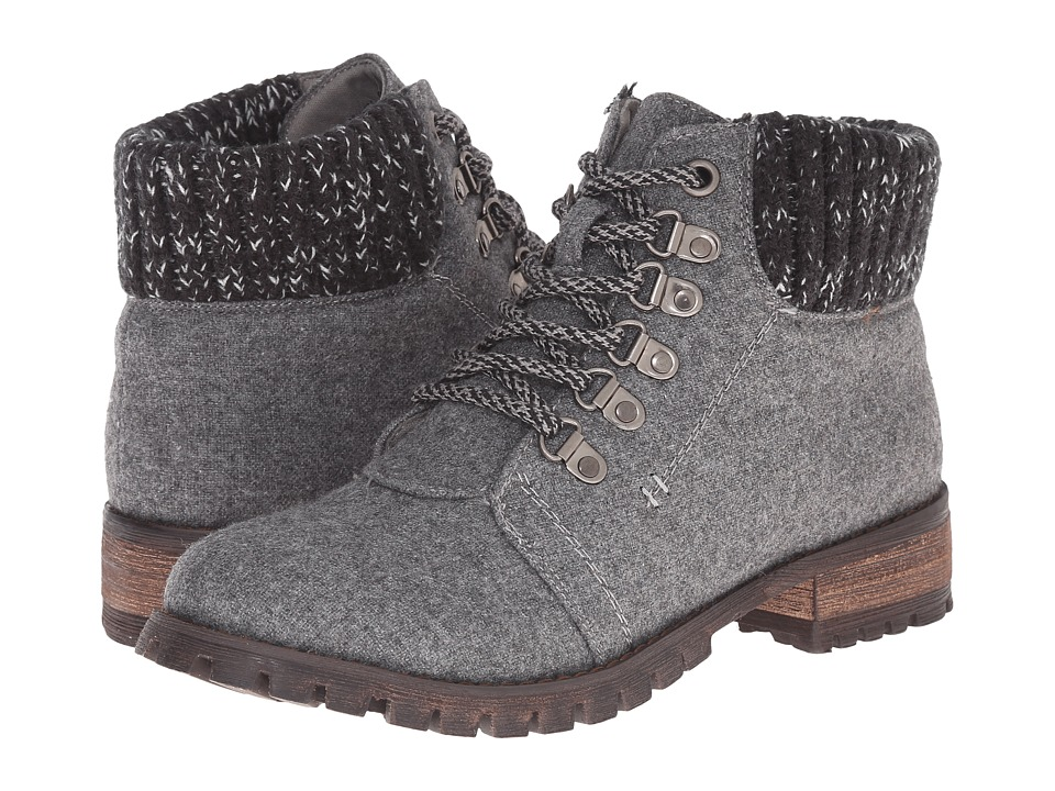 Dirty Laundry - Tracker (Dark Grey) Women's Work Lace-up Boots
