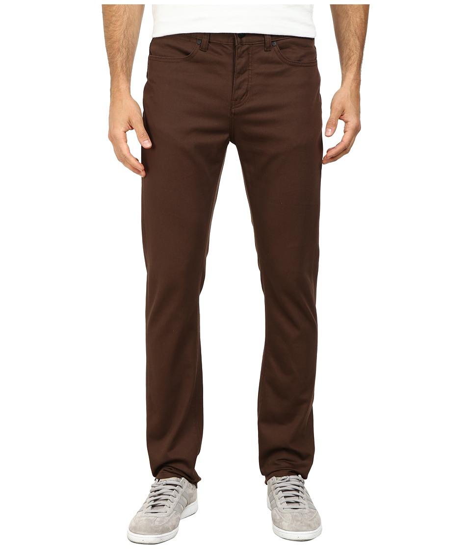 KR3W - K Slim Five-Pocket Pants (Brown) Men's Casual Pants