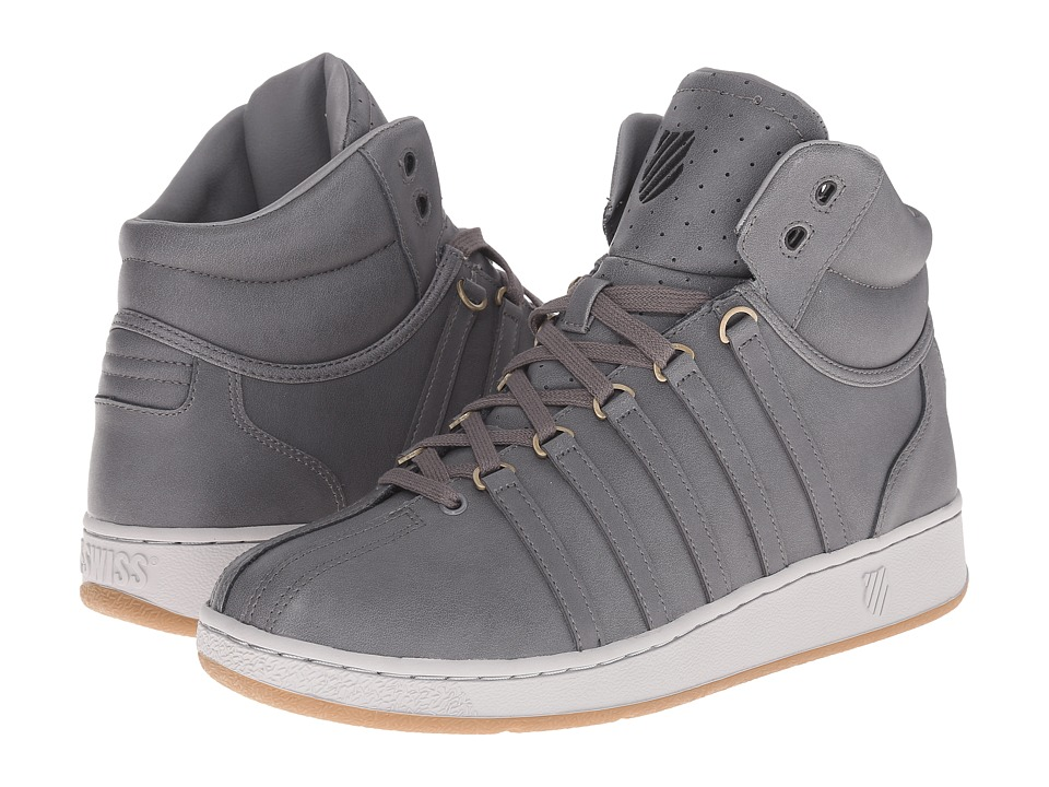 K-Swiss - Classic VN Mid (Charcoal/Gull Gray) Men's Classic Shoes